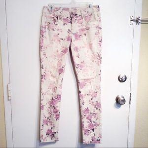 AMERICAN EAGLE Floral Rose Print Skinny Jeans